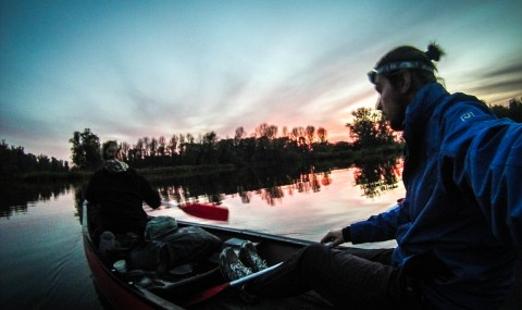Canoeing in National Park De Biesbosch