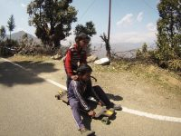 Skateboarding Northern India