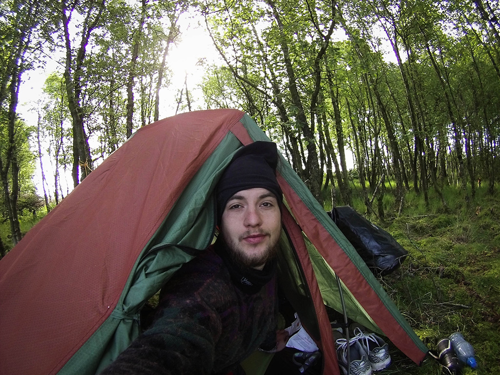 A good morning in my tent