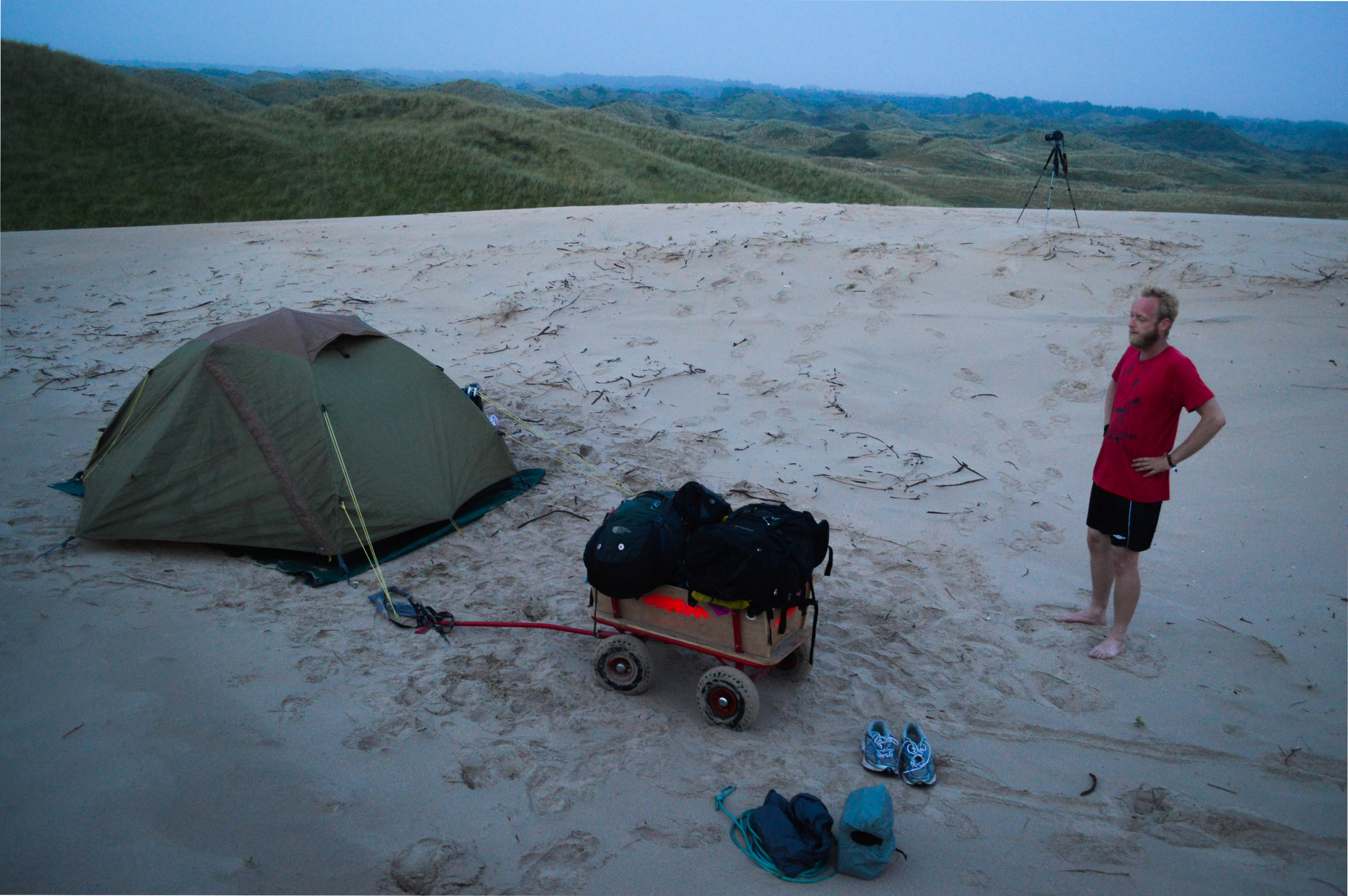 Wildcamping in dunes