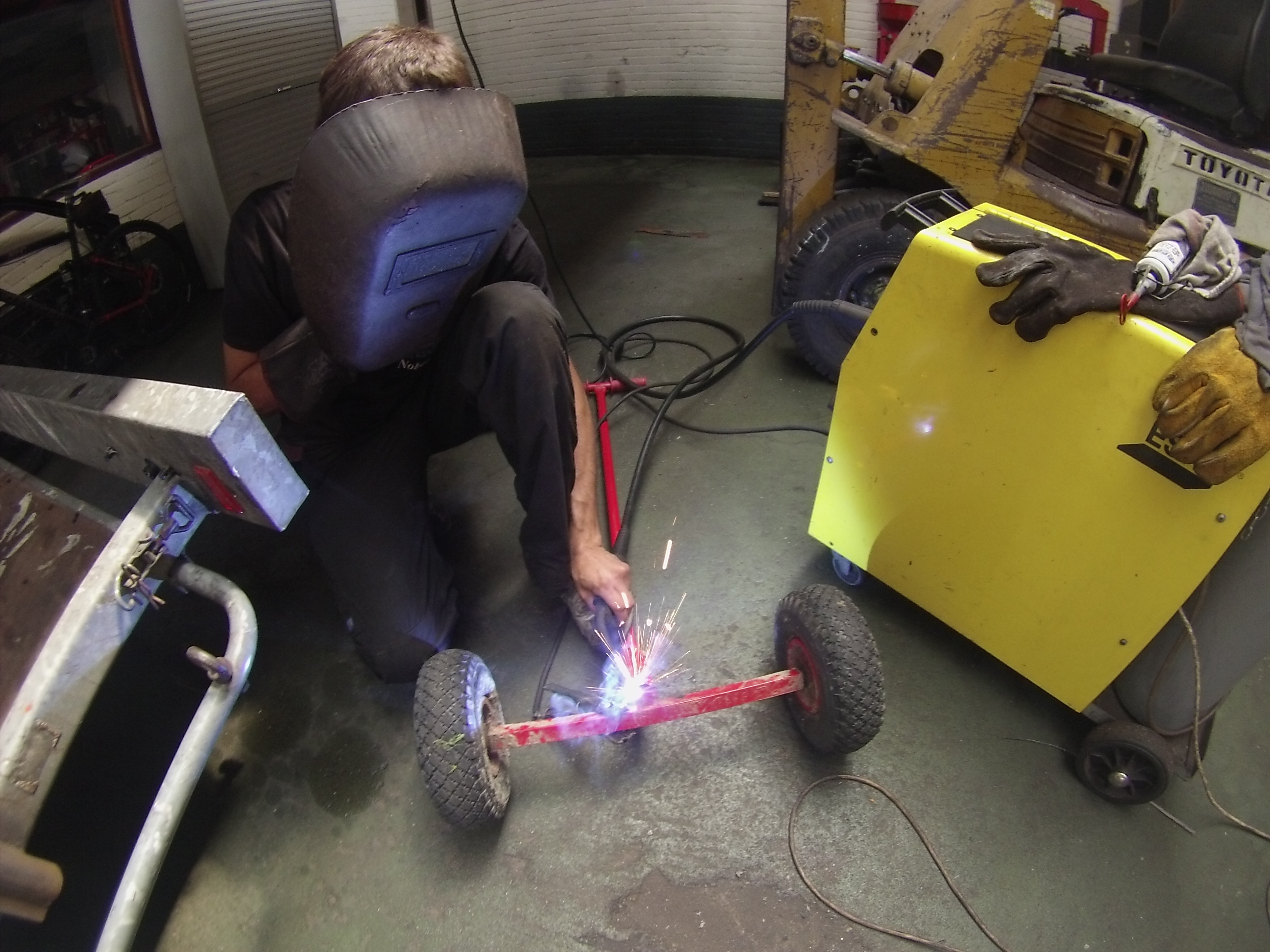 Welding a beach cart