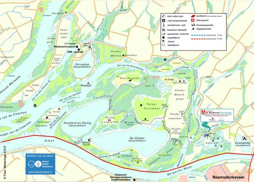 map biesbosch