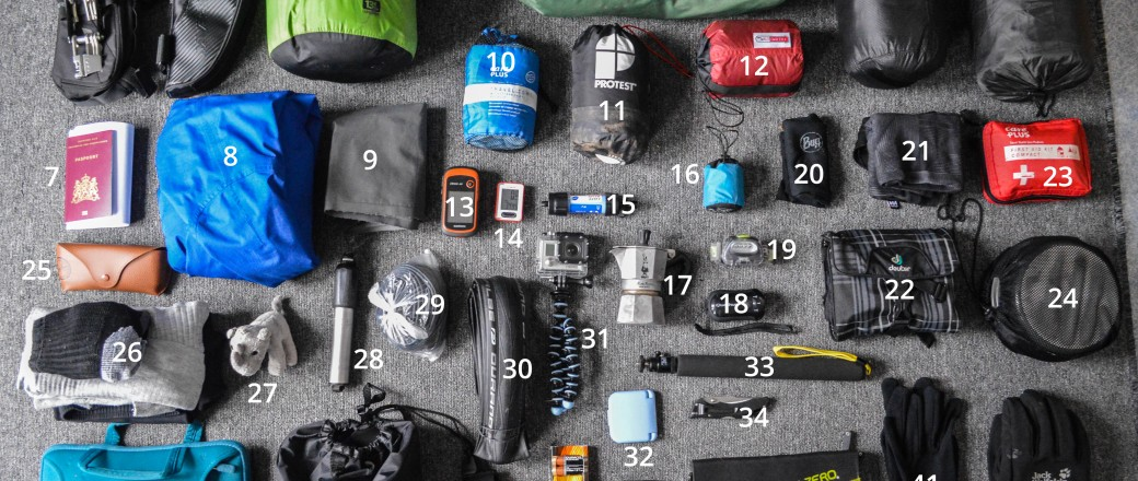 Packing list for a bicycle journey through Europe and Asia