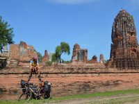A day in the life of a cycle traveler in Thailand