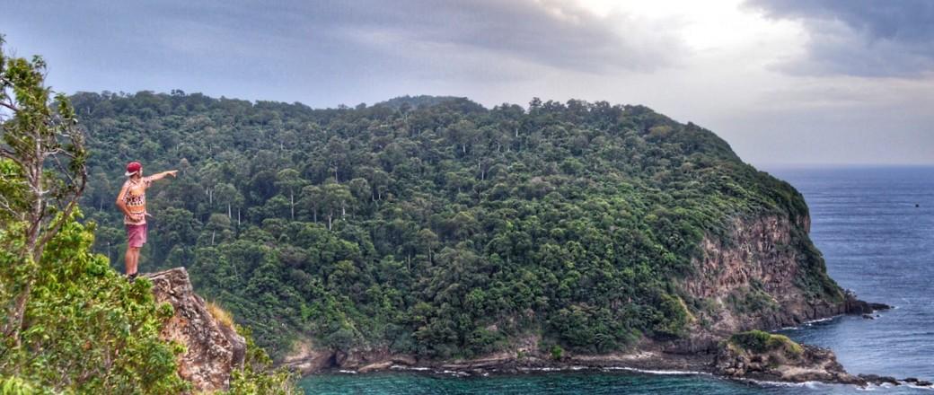 Nieuwjaar op een onbewoond eiland