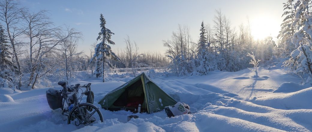 Camping in -22 degrees celcius