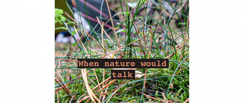 When nature would talk