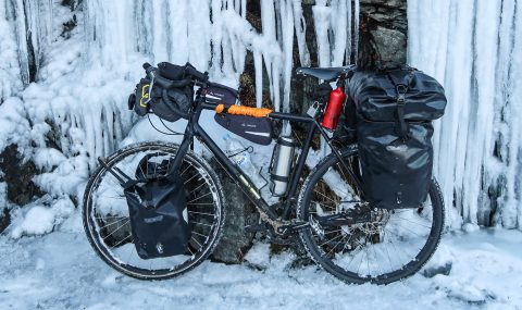 Complete packing list for cycling and camping in winter
